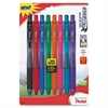 Pentel EnerGel-X Retractable Liquid Gel Pen - Medium Point Type - 0.7 mm Point Size - Refillable - Assorted Gel-based Ink - Assorted Barrel - 8 / Pack