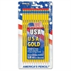 Pre-sharpened USA Gold No.2 Pencils - #2, HB Lead Degree (Hardness) - Black Lead - Yellow Cedar Barrel - 12 / Pack