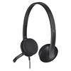 USB Headset H340 - Stereo - Black - USB - Wired - 20 Hz - 20 kHz - Over-the-head - Binaural - Semi-open - 6 ft Cable