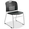 "Vy Sled Base Stack Chairs - Plastic Seat - Plastic Back - Steel Powder Coated Frame - Sled Base - Black - Polypropylene - 18.50"" Seat Width x 17"" Seat Depth - 22.5"" Width x 19.5"" Depth x 32.5"" H"