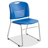 "Safco Vy Sled Base Stack Chairs - Plastic Seat - Plastic Back - Steel Powder Coated Frame - Sled Base - Blue - Polypropylene - 18.50"" Seat Width x 17"" Seat Depth - 22.5"" Width x 19.5"" Depth x 32.5"" He"