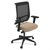 "Mayline Commute Series Mesh Back Task Chair - Fabric Latte Seat - 5-star Base - 25"" Width x 23"" Depth x 45"" Height"