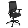 "Mayline Commute Series Mesh Back Task Chair - Fabric Black Seat - 5-star Base - 25"" Width x 23"" Depth x 45"" Height"