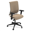 "Commute Series Fully Upholstered Task Chair - Fabric Latte Seat - 5-star Base - 25"" Width x 23"" Depth x 45"" Height"