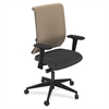"Mayline Commute Series Fully Upholstered Task Chair - Fabric Black Seat - 5-star Base - 25"" Width x 23"" Depth x 45"" Height"