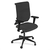 "Mayline Commute Series Fully Upholstered Task Chair - Fabric Latte Seat - 5-star Base - 25"" Width x 23"" Depth x 45"" Height"