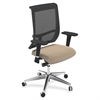 "Mayline Commute Series Mesh Back Chair - Fabric Latte Seat - 5-star Base - 25"" Width x 23"" Depth x 45"" Height"