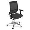 "Mayline Commute Series Mesh Back Chair - Fabric Black Seat - 5-star Base - 25"" Width x 23"" Depth x 45"" Height"