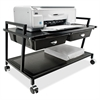 "Vertiflex Underdesk Machine Stand w/Drawers - 15.4"" Height x 25.3"" Width x 15.8"" Depth - Floor - Steel - Black"