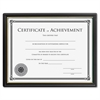 "Lorell Multipurpose Frame w/Cert. of Achievement - 8.50"" x 11"" - Black"