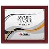 """Lorell Mahogany Award-a-Plaque - 8.50"""" x 11"""" - Mahogany"""