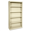 "Lorell Fortress Series Bookcases - 34.5"" x 13"" x 72"" - 6 x Shelf(ves) - Putty - Powder Coated - Steel - Recycled"