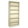 "Lorell Fortress Series Bookcases - 34.5"" x 13"" x 82"" - 6 x Shelf(ves) - Putty - Powder Coated - Steel - Recycled"