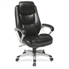 "Executive Leather high-back Chair - Leather Black Seat - Leather Back - 5-star Base - 21"" Seat Width x 19.25"" Seat Depth - 28.3"" Width x 30"" Depth x 47.3"" Height"