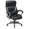 "Lorell Executive Leather Eco Chair - Leather Black Seat - Leather Back - 5-star Base - 20.50"" Seat Width x 19.50"" Seat Depth - 27.5"" Width x 28.3"" Depth x 46.5"" Height"