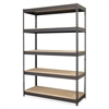 "Lorell Riveted Steel Shelving - 72"" Height x 48"" Width x 24"" Depth - Recycled - Black - Steel - 1Each"