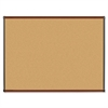 "Lorell Mahogany Finish Natural Cork Boards - 48"" Height x 36"" Width - Natural Cork Surface - Mahogany Wood Frame - 1 Each"