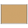 "Lorell Satin Finish Trim Natural Cork Board - 48"" Height x 36"" Width - Natural Cork Surface - Silver Anodized Aluminum Frame - 1 Each"