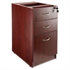 "Essentials Hanging Fixed Pedestals - 15.5"" x 21.9"" x 28.5"" - Box Drawer(s), File Drawer(s) - Single Pedestal - Material: Polyvinyl Chloride (PVC) Edge, Metal Pull - Finish: Mahogany, Laminate,"