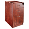 "Essentials Hanging Fixed Pedestal - 15.5"" x 21.9"" x 28.5"" - 3 x Box Drawer(s), File Drawer(s) - Material: Polyvinyl Chloride (PVC) Edge, Metal Pull - Finish: Laminate, Cherry, Silver Pull"