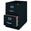 "Lorell Commercial Grade 28.5'' Legal-size Vertical Files - 18"" x 28.5"" x 28.8"" - 2 x Drawer(s) for File - Legal - Vertical - Ball Bearing Glide, Label Holder, Locking Drawer, Heavy Duty - Black - Stee"