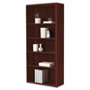 "HON 10700 Srs Mahogany Laminate 5-shelf Bookcase - 5 Compartment(s) - 71"" Height x 32.4"" Width x 13.1"" Depth - Recycled - Mahogany - Wood - 1Each"