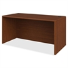 "Desk Shell - 60"" x 30"" x 29.5"" - Waterfall Edge - Material: Hardwood, Particleboard - Finish: Henna Cherry, High Pressure Laminate (HPL)"