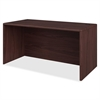 "Desk Shell - 60"" x 30"" x 29.5"" - Waterfall Edge - Material: Hardwood, Particleboard - Finish: Laminate, Mahogany"