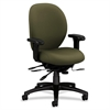 "7600 Series Mid-Back Chairs w/ Seat Glide - Olive Green Seat - Black Frame - 5-star Base - 19"" Seat Width x 20"" Seat Depth - 27.1"" Width x 39"" Depth x 42.5"" Height"