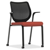 "Nucleus Series ilira-stretch M4 Stacking Chair - Foam Seat - Mesh Back - Four-legged Base - Poppy - 19"" Seat Width x 19"" Seat Depth - 27"" Width x 25.3"" Depth x 23"" Height"