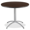 "Iceberg CafeWorks 36"" Round Cafe Table - Round Top - 1.13"" Table Top Thickness x 36"" Table Top Diameter - 30"" Height - Walnut"