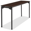 "Iceberg Maxx Legroom Wood Folding Table - Rectangle Top - Four Leg Base - 4 Legs - 18"" Table Top Width x 60"" Table Top Depth x 0.75"" Table Top Thickness - 29"" Height - Walnut"