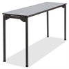 "Iceberg Maxx Legroom Wood Folding Table - Rectangle Top - Four Leg Base - 4 Legs - 18"" Table Top Width x 60"" Table Top Depth x 0.75"" Table Top Thickness - 29"" Height - Gray"