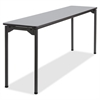 "Iceberg Maxx Legroom Wood Folding Table - Rectangle Top - Four Leg Base - 4 Legs - 18"" Table Top Width x 72"" Table Top Depth x 0.75"" Table Top Thickness - 29"" Height - Gray"