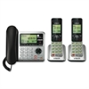 VTech CS6649-2 DECT 6.0 Expandable Corded/Cordless Phone with Answering System and Caller ID/Call Waiting, Silver/Black with 2 Handsets - Cordless - 1 x Phone Line - 2 x Handset - Speakerphone - Answe