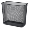 "Lorell Steel Mesh Rectangular Waste Bin - 7.90 gal Capacity - Rectangular - 15"" Height x 17"" Depth - Steel - Black"