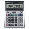 "Canon BS1200TS Desktop Calculator - Metal Cover, Auto Power Off, Rubber Grip, Non-slip Rubber Feet - 12 Digits - LCD - Battery/Solar Powered - 1.1"" x 5.1"" x 7.3"" - Metallic Gray - 1 Each"