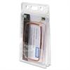 Baumgartens Vinyl Two-Badge Smart Card Holder - Vertical - Vinyl - 20 / Pack - Translucent