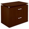 "Concordia Laminate Desk Ensemble - 35.5"" x 21.9"" x 29.5"" - 2 x Drawer(s) for File - Lateral - Lockable - Mahogany - Mahogany Laminate - Assembly Required"