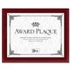 """DAX Mahogany Wall Award Plaque - 10.50"""" x 13"""" Frame Size - Holds 8.50"""" x 11"""" Insert - Hanger - 1 Each - Mahogany"""