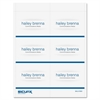 "SICURIX Name Badge Kit Insert - 4"" x 3"" - 60 / Pack - 3"" Width x 4"" Height - Micro Perforated - White"