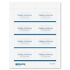 "Baumgartens Sicurix Name Badge Kit Insert - 56 / Pack - 2.3"" Width x 3.5"" Height - Micro Perforated - White"