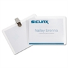 SICURIX Clip-Style Name Badge Kit - Vinyl, Plastic - 50 / Box - Clear