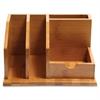 """Baumgartens Bamboo Desk Organizer - 4.1"""" Height x 6.1"""" Width x 8.5"""" Depth - Natural - Bamboo - 1Each"""