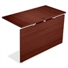 "Lorell Concordia Series Mahogany Laminate Desk Ensemble - 47.3"" x 23.6"" x 29.5"" - Finish: Laminate, Mahogany"