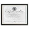"""Black & Gold Certificate Frames - Holds 8.50"""" x 11"""" Insert - Plastic - Black"""