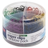 OIC Coated Paper Clips Tub - 450 / Pack - Assorted