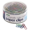 OIC Coated Paper Clips Tub - No. 2 - 600 Pack - Metallic