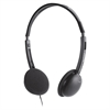 Compucessory Headphone - Stereo - Black - Mini-phone - Wired - 32 Ohm - 20 Hz 20 kHz - Over-the-head - Binaural - Supra-aural - 5.92 ft Cable