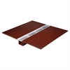 "Lorell Concordia Series Mahogany Laminate Desk Ensemble - 66"" x 8"" x 67"" - Finish: Laminate, Mahogany"